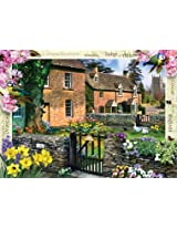 Masterpieces 71401 Tulip Cottage Puzzle 1000 Piece
