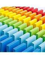 WanPower 70038 240pcs Wooden Domino Blocks, Tile Game Toy for Kid's Intelligence Development, Building Game