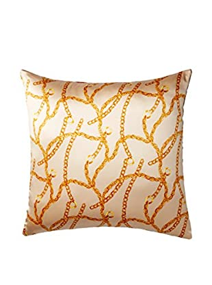 Lilly P Chains Scarf Pillow, Latte/Gold