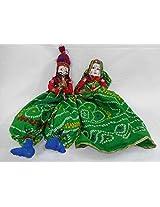 Traditional handmade Rajasthani Katputli Puppet Maharaja Maharani Decorative Textile Souvenir Gift Item