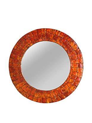 Jeffan Cameron Round Mirror (Orange)