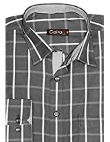 Cairon Black Check Executive Formal Shirt Sf-B4324_A