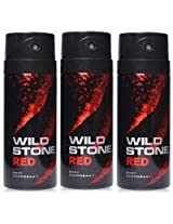 Wild Stone Deodorant - Red Body (150ml) (Pack of 3)