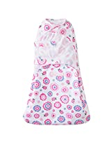 Halo Swaddlesure Adjustable Swaddling Pouch, Lady Bug Flowers, Small
