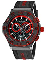 Stuhrling Prestige Men's 292P.335964 Prestige Swiss Made Harbinger Quartz Chronograph Date Red Watch