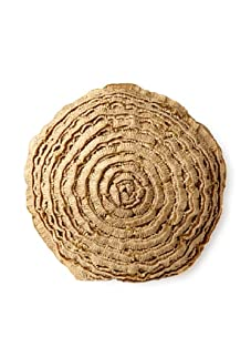 """Mar Y Sol Maybelle 18"""" Round Pillow, Natural"""