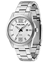 Police White Steel Analog Men Watch 10013406JS 04M