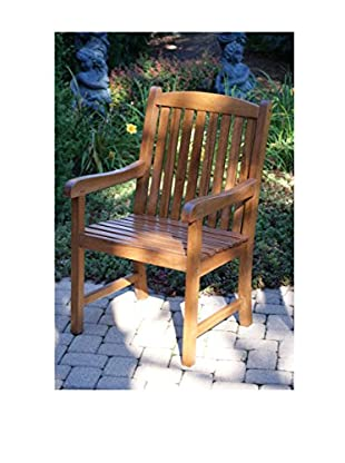 Outdoor Interiors Eucalyptus Grande Arm Chair, Brown