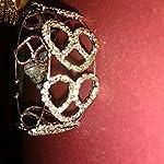 Silver Crystal Sterling Silver Glass Fashion Bangle 1 Bangle