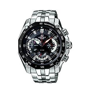 Casio Edifice Tachymeter Chronograph Black Dial Men's Watch - EF-550D-1AVDF (ED390)