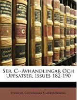 Ser. C--Avhandlingar Och Uppsatser, Issues 182-190