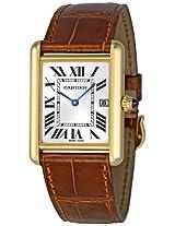 Cartier Mens W1529756 Tank Louis 18kt Yellow Gold Watch