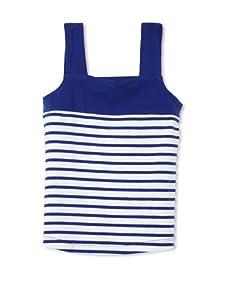One Kid Girl's 2-6x Striped Cami (Cadet Stripe)