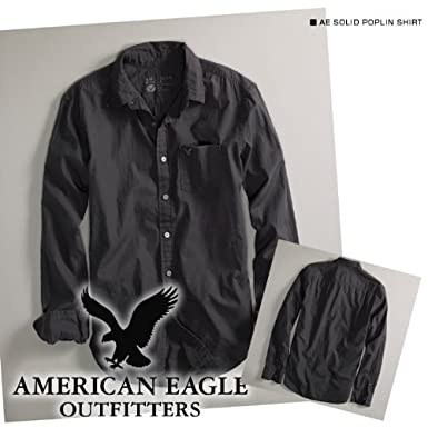 American Eagle(アメリカンイーグル)カジュアルシャツ AE SOLID POPLIN SHIRT
