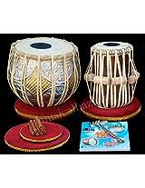 SANSKRITI MUSICALS Tabla Set - Twin Color Brass Bayan 3 KG - Sheesham Dayan - FD