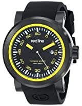 "red line Men's RL-50049-BB-01-YA ""Torque"" Stainless Steel Watch with Black Silicone Band"