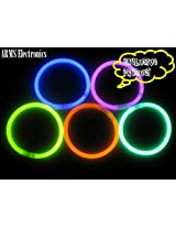 Glow in the dark Radium Glow Sticks Wrist Band (10 pieces)