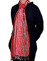 Dulhan Choice Semi Pashmina Multicoloured printed Stole