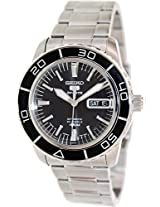 Seiko 5 Automatic Black Dial Stainless Steel Mens Watch - SNZH55K1