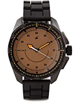 Fastrack Commando Analog Watch For Men Black 3084NP01