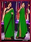 New Designer Green Party Wear Saree by madhuri dixit