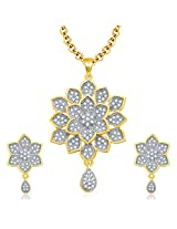 Sukkhi Incredible Gold And Rhodium Plated CZ Pendant Set For Women