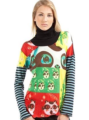 Custo Camiseta Claude Monopanda (Multicolor)