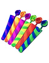 G2Plus? 6 PCS Popsicle Molds Silicone Ice Pop Maker with Attached Lid Great for Homemade Popsicles