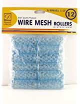"Donna 1/2"" X Small Wire Mesh Hair Rollers 12 Ct."
