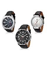 Rico Sordi Set of 3 Mens Leather Watches RSD16_S3_1_RSD16_S3_1