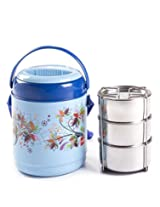Cello Mark Insulated Lunch Carrier (3 Container) Blue