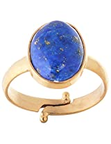 Astrology Paradise Blue Gold Plated Round Astrological Ring For Unisex