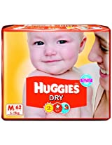 Huggies Dry Diapers Medium Size (62 Count)