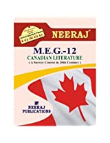 MEG12-Canadian Literature (IGNOU help book for MEG-12 in English Medium)