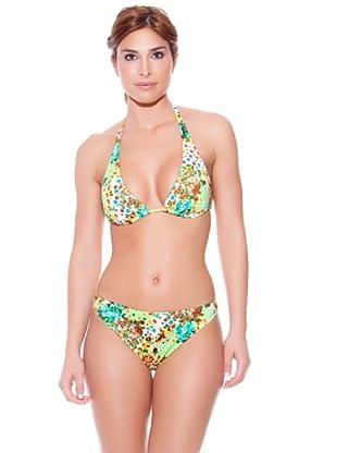 Teleno Bikini Cortina Flores (Multicolor)