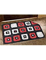 Avira Home 2100 GSM Blocks Reversible Bathmat-Door Mat- Floor Mat-100% Cotton-Multicolor