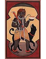 Exotic India Bhagawan Bhairava - Water Color Painting on Paper - Artist:Kailash Raj