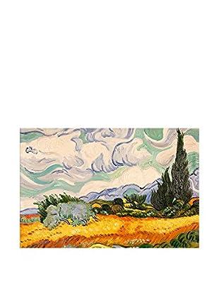Arte Dal Mondo Ölgemälde auf Leinwand Van Gogh Campo Di Grano E Cipressi