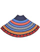 The Knit Factory Women's Acrylic Woolen Poncho (4001e_Multi-Colour)