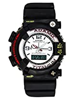ADAMO White Dial Analogue-Digital Mens Watch - (ADMTG LARGE W)