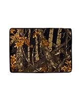 "Soft Memory Foam Bath Mat/rug: Woodland/camouflage Design, Non-skid (Black, 20"" x 30"")"