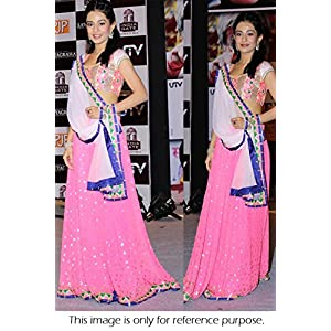 Bollywood Replica Amrita Rao Net Lehenga In Pink Colour NC451