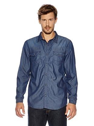 Cross Jeans Hemd (Mittelblau)