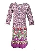 2Dots Women's Cotton Regular Fit Kurti (Multicolour, 46 Inches)