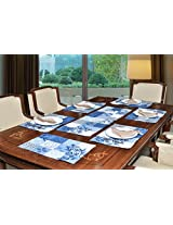"Avira Home Multichecks Table Mats & Table Runner Set- 6 Mats (13""x19"") & 1 Runner (13""x39""), Machine Washable"
