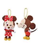 Disney Strap And Key Chain Pair Mickey & Minnie (Japan Import)