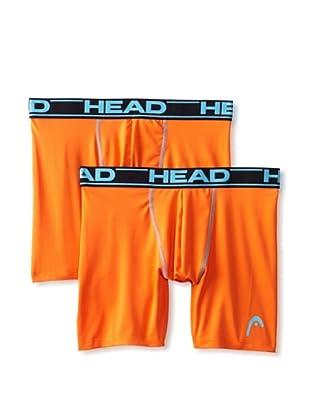 HEAD Men's Performance Boxer Brief - 2 Pack (Dark Orange)