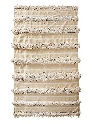 Vintage Berber Wedding Rug, Crème, 3' 9