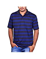 Duke Men Polo Stripped Collar Grey Tshirt By ReturnfavorsM