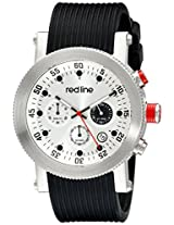 red line Men's RL-18101VD-02 Compressor Chronograph Silver Dial Black Silicone Watch